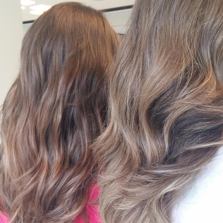 Ombre hair #caramel#2tons#blonde#naturalidade#mechas#feitas#com#tinta#tratamento#cortestylist#isabelcabelo #isabelhair cabeleireiro(a)