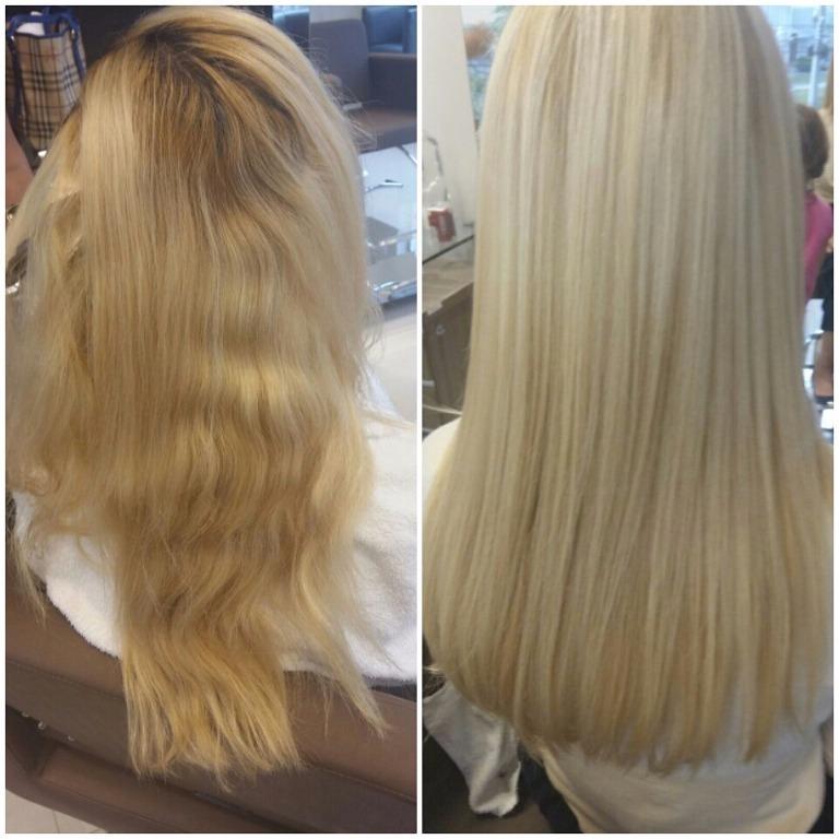 Antes#depois#loiro#dos#sonhos#adoro#baunilha#caramel #luzes #blonde #blondeme#isabelhair #isabelcabelo @ic-hair #blond #blondeme  cabeleireiro(a)