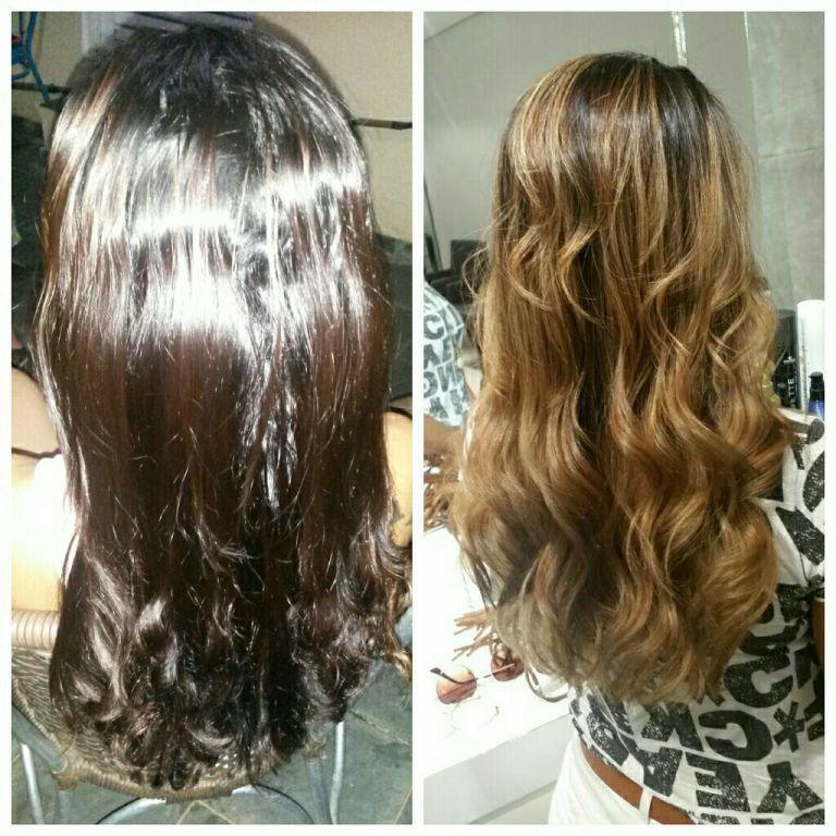 Cabelo com pigmento preto e vermelho . Fico a cor q a cliente pediu cabelo cabeleireiro(a) estudante (esteticista)