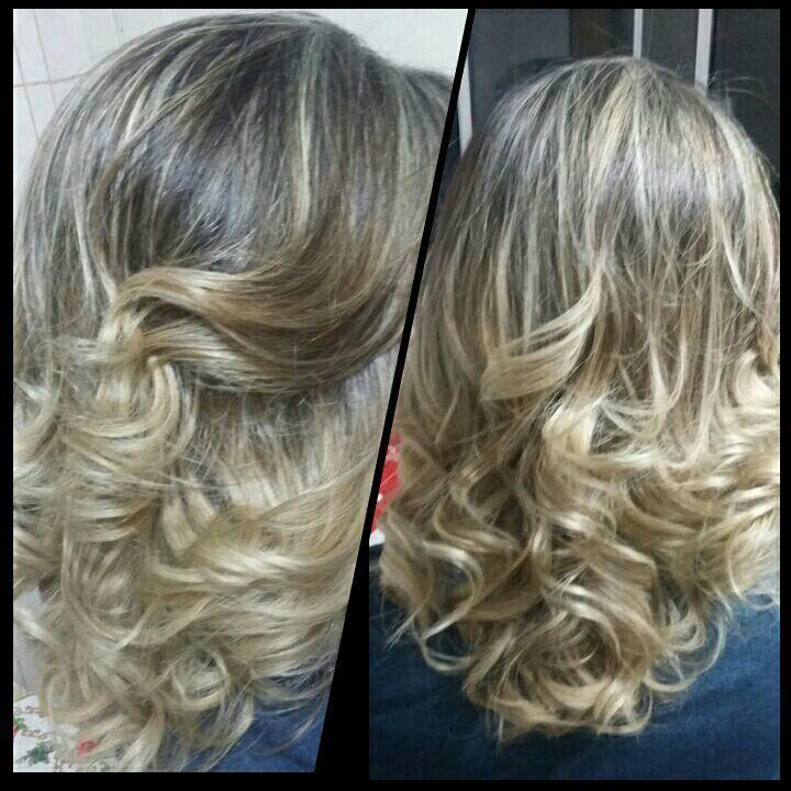 Mechas - Dourado/Acinzentado cabelo auxiliar cabeleireiro(a) cabeleireiro(a)