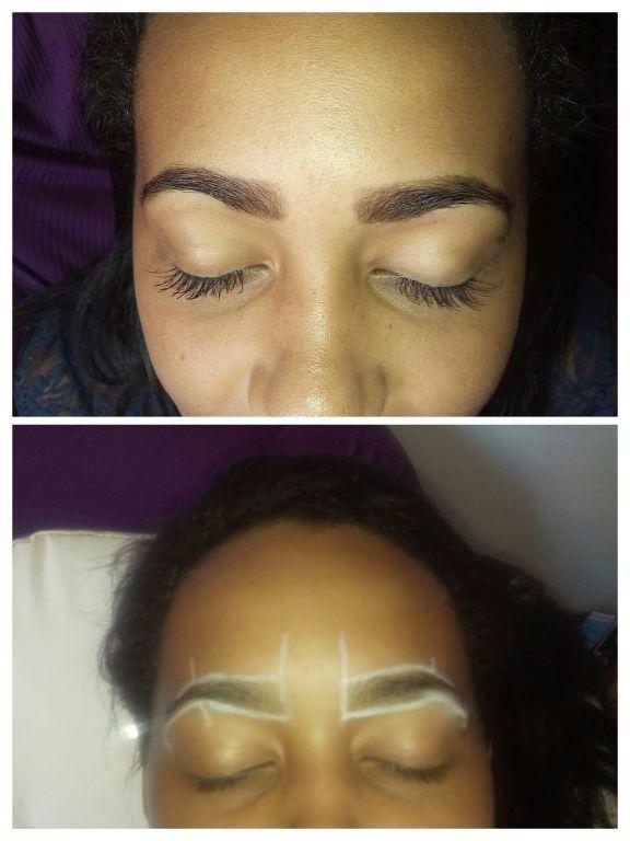 Designer mais aplicação de henna Alongamento de cílios estética esteticista designer de sobrancelhas