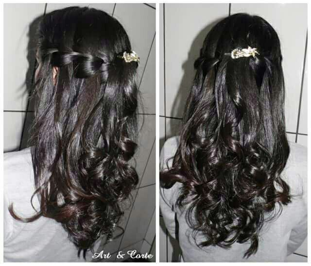 Penteado Trança Cascata cabelo estudante (cabeleireiro)