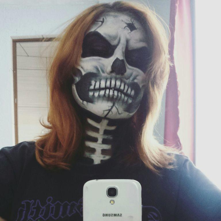 Maquiagem artística ♡ #makeup #creepy #skullmakeup #halloween #caveira #horror #terror #maquiagemartistica #maquiagem  maquiagem maquiador(a)