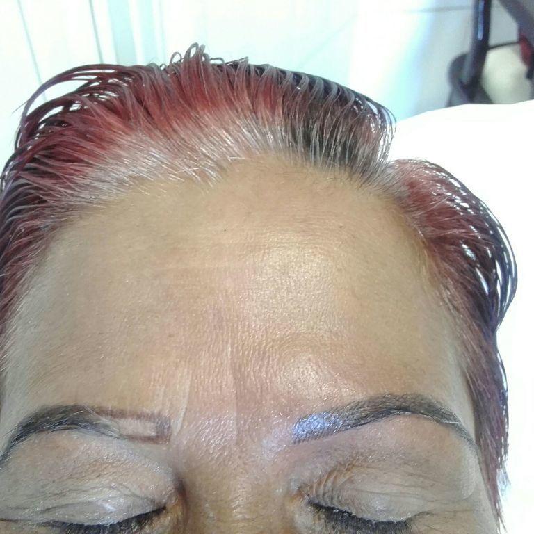 Depois fios realistas estética micropigmentador(a) designer de sobrancelhas esteticista depilador(a)