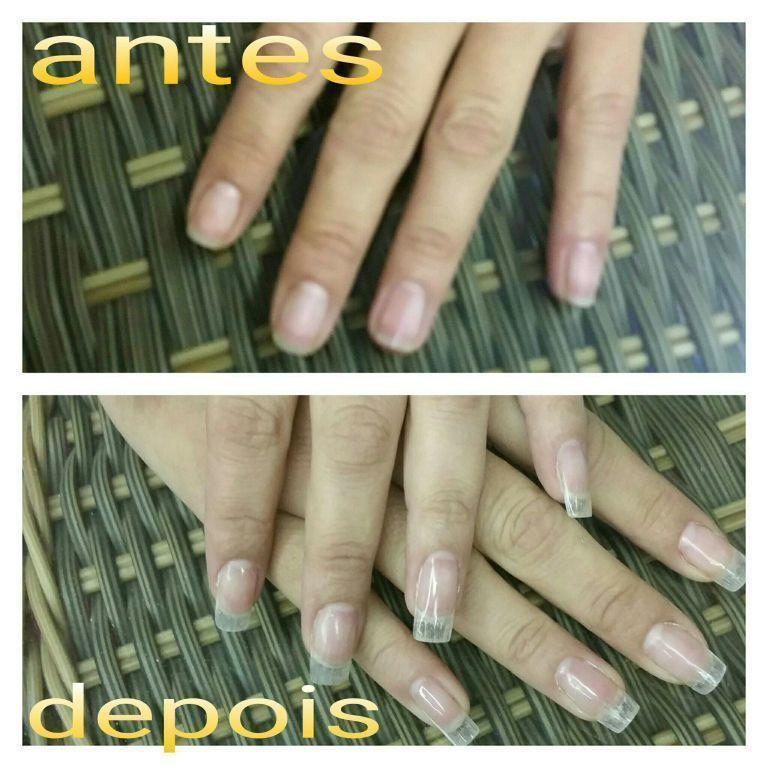 Alongamento de fibra de vidro unha manicure e pedicure auxiliar cabeleireiro(a)