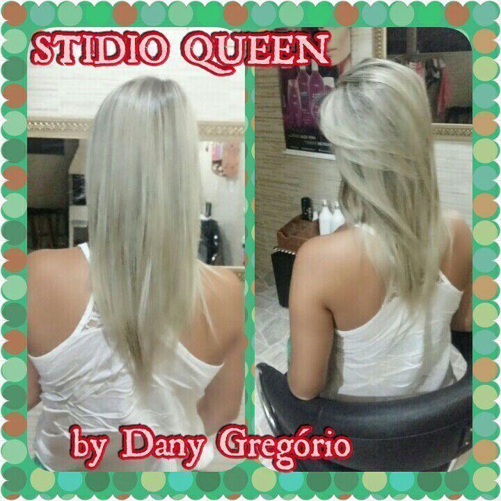 Platinado cabelo cabeleireiro(a) designer de sobrancelhas maquiador(a)
