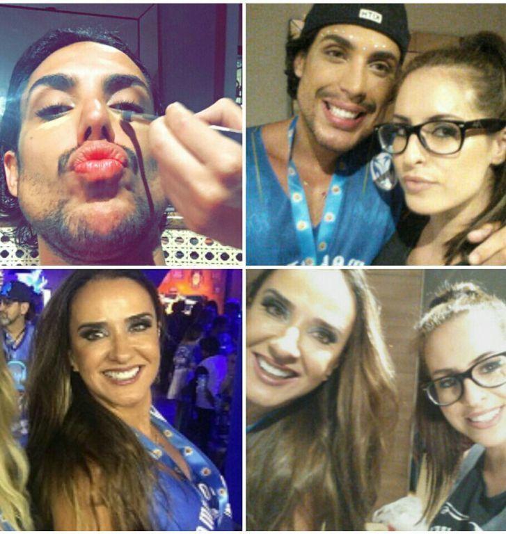 Maquiagem de carnaval Desfile das campeãs  Vera Minelli e Bruno Maffei maquiagem maquiador(a)