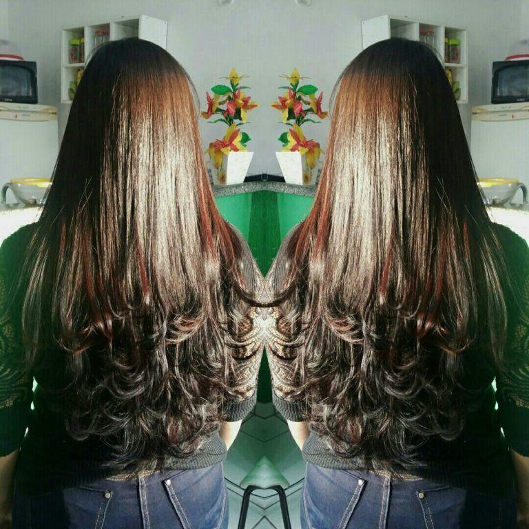 Corte em camadas. cabelo cabeleireiro(a)