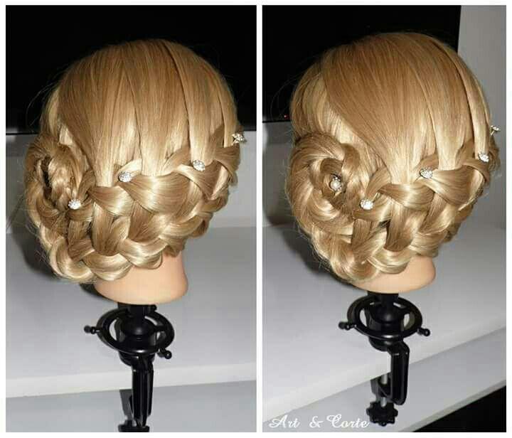 Coque lateral com trança cascata cabelo estudante (cabeleireiro)
