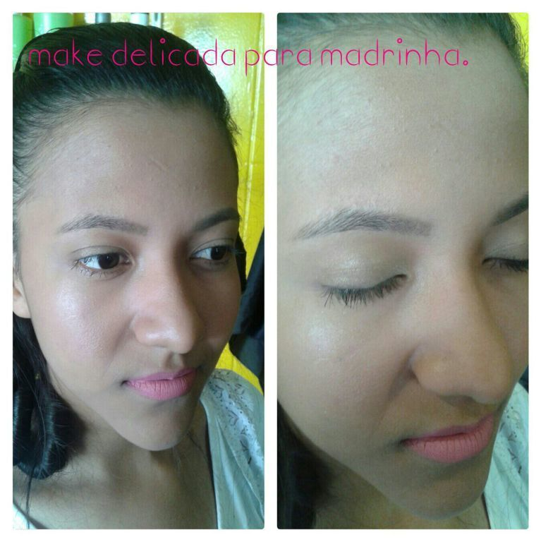 Make delicada. maquiagem maquiador(a) designer de sobrancelhas