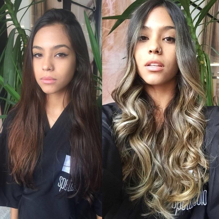 luzes, oriental, antes e depois cabelo  cabeleireiro(a)