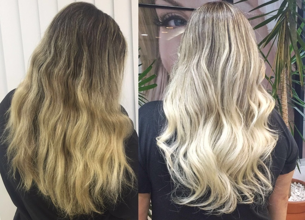 loiro platinado, antes e depois, coloração cabelo  cabeleireiro(a)
