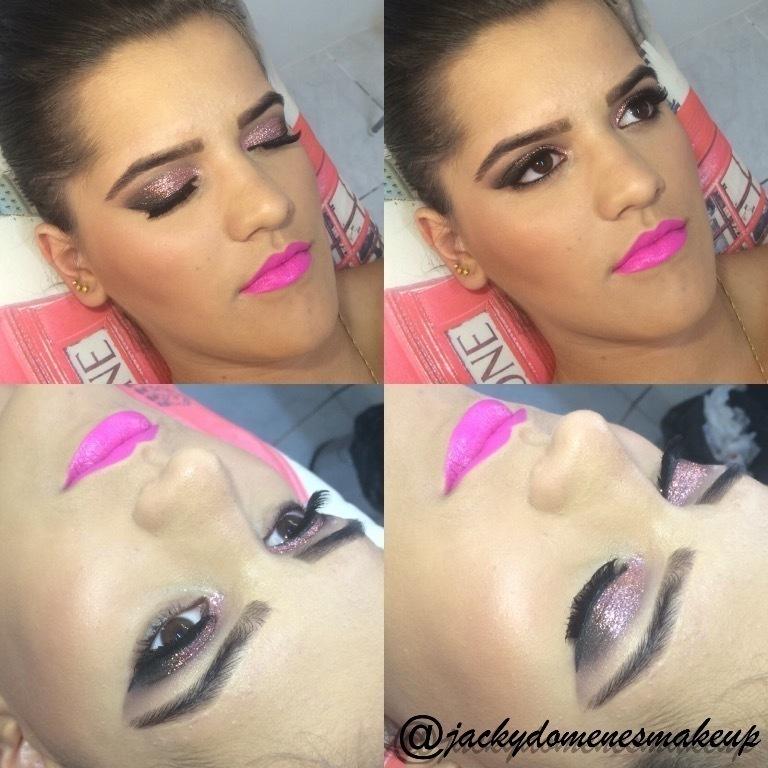 pink, lilás maquiagem  maquiador(a) designer de sobrancelhas micropigmentador(a)
