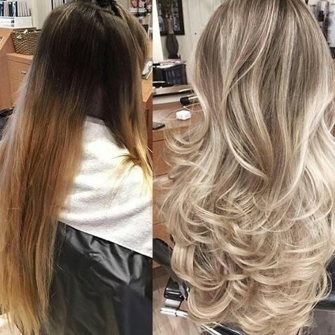 antes e depois, coloração, loiro cabelo  cabeleireiro(a)