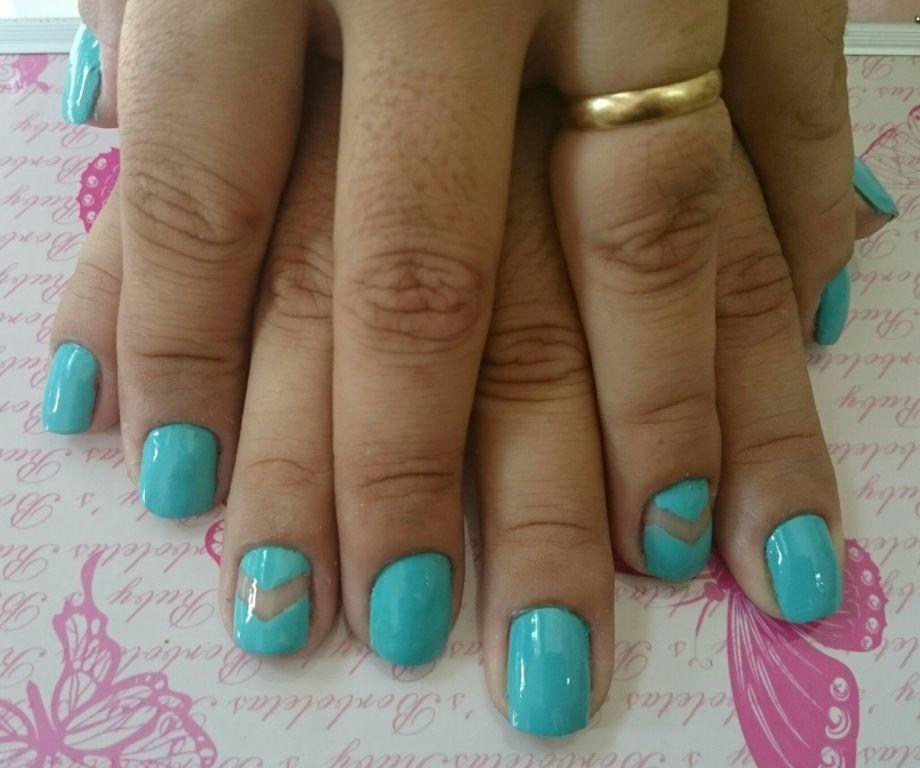 verde água unhas  manicure e pedicure