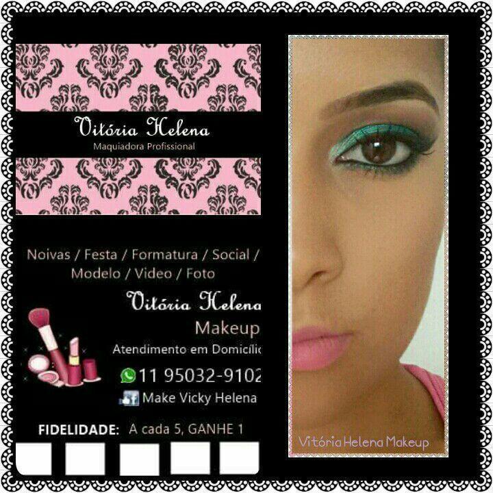 Cartão de visita maquiagem maquiador(a)