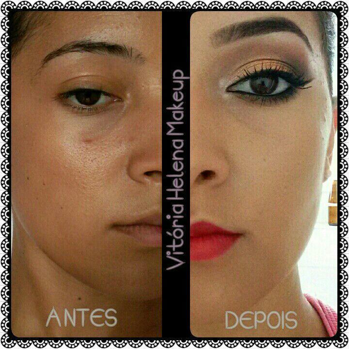 Antes e Depois maquiagem maquiador(a)