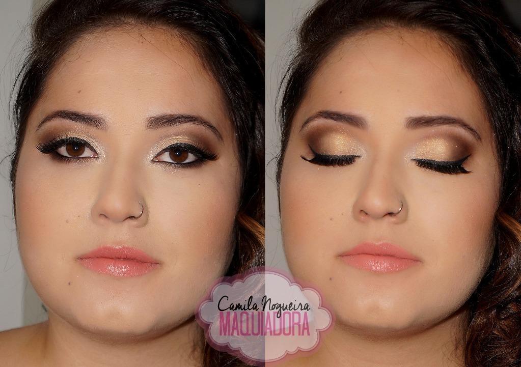maquiagem oriental, marrom,, festa, balada, casamento maquiagem  maquiador(a)