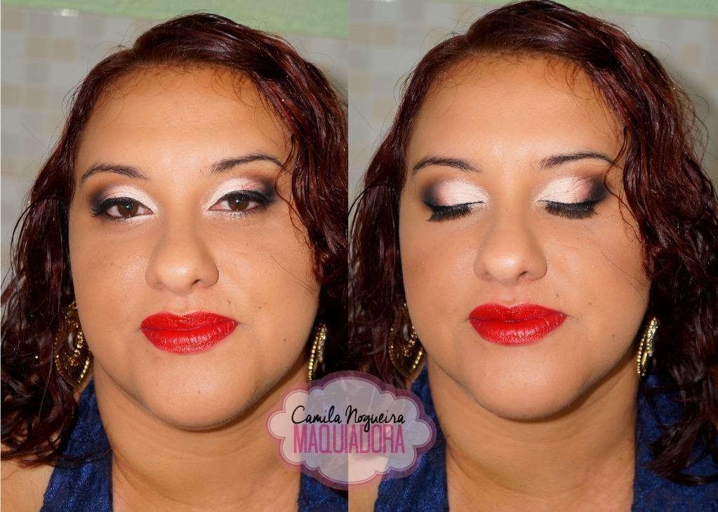 rosto redondo, batom vermelho maquiagem  maquiador(a)