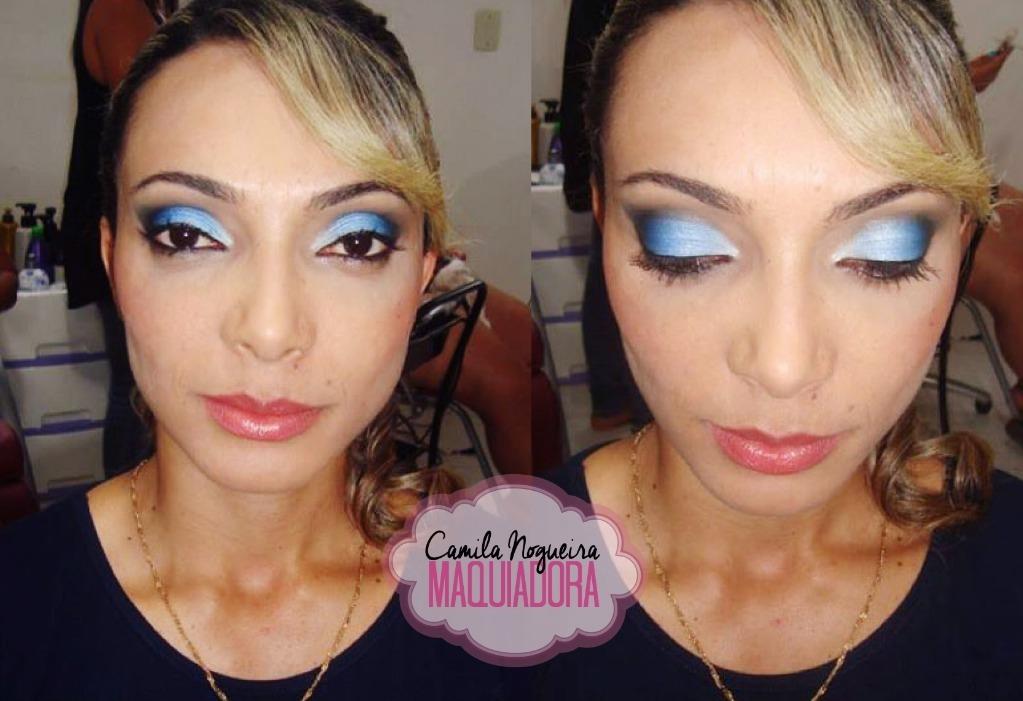 esfumado azul rosto quadrado maquiagem  maquiador(a)