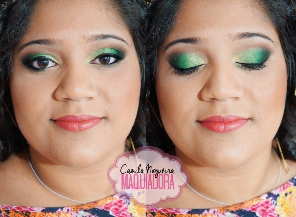 maquiagem rosto redondo, verde maquiagem  maquiador(a)
