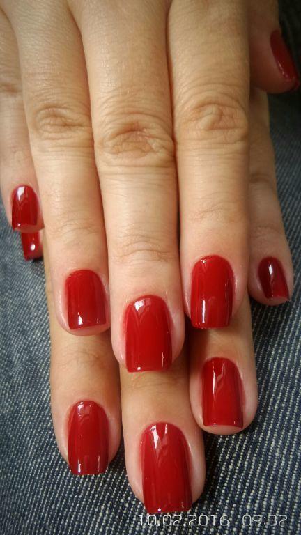 vermelho unhas  manicure e pedicure