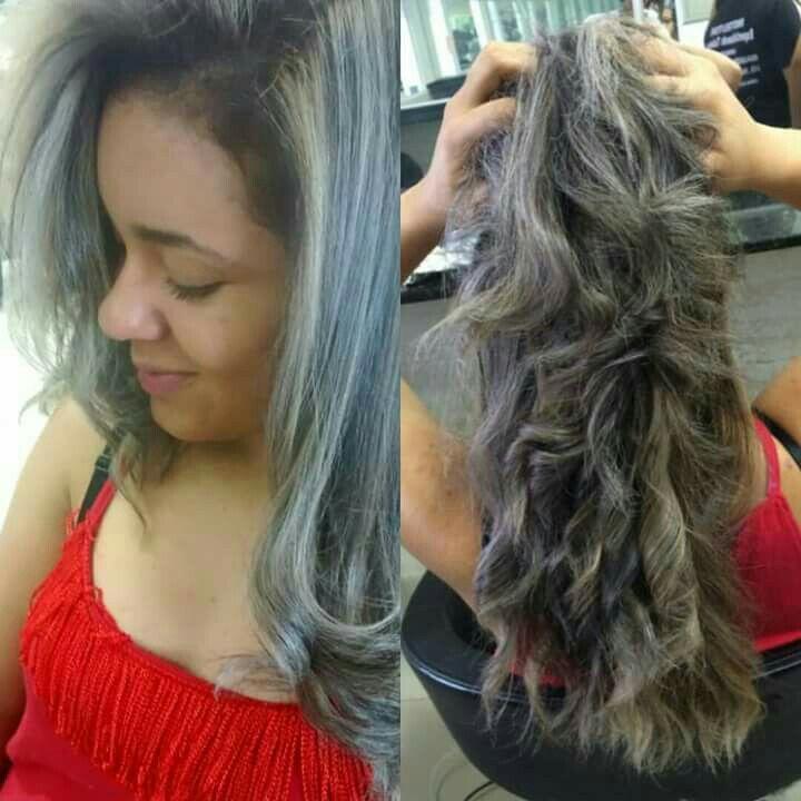 Correcao de cor.... luzes no papel aluminio... cabelo designer de sobrancelhas estudante (manicure) estudante (maquiador) estudante (cabeleireiro)