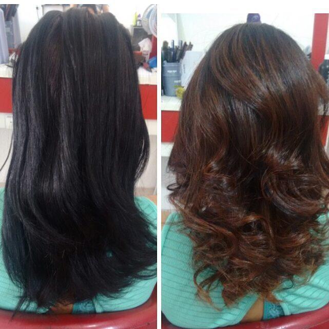 Fabuloso Foto: antes e depois | castanho chocolate | cabelo médio | | CBeauty ZV06