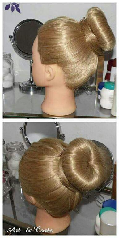 Coque rosquinha cabelo estudante (cabeleireiro)
