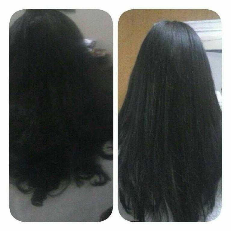 Uma bela selagem auxiliar cabeleireiro(a)