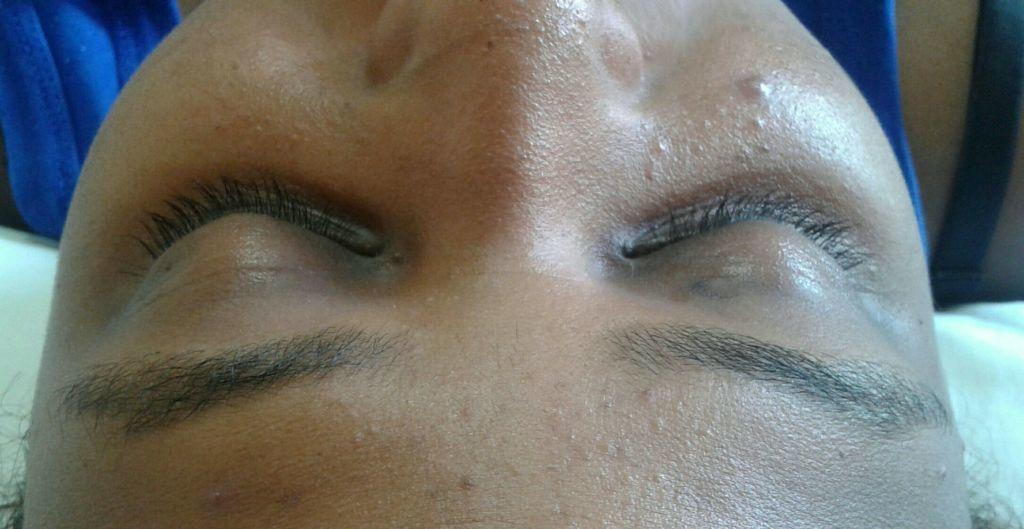Antes alongamento de cílios estética esteticista designer de sobrancelhas depilador(a) massoterapeuta