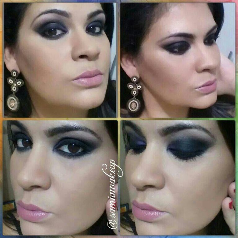 black eye, smoke, batom nude  maquiagem  maquiador(a)