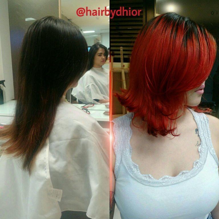 corte e tintura  cabelo  cabeleireiro(a)