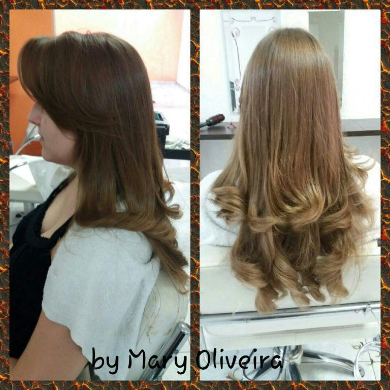 Corte em camadas, dá leveza e movimento aos fios. cabelo cabeleireiro(a)