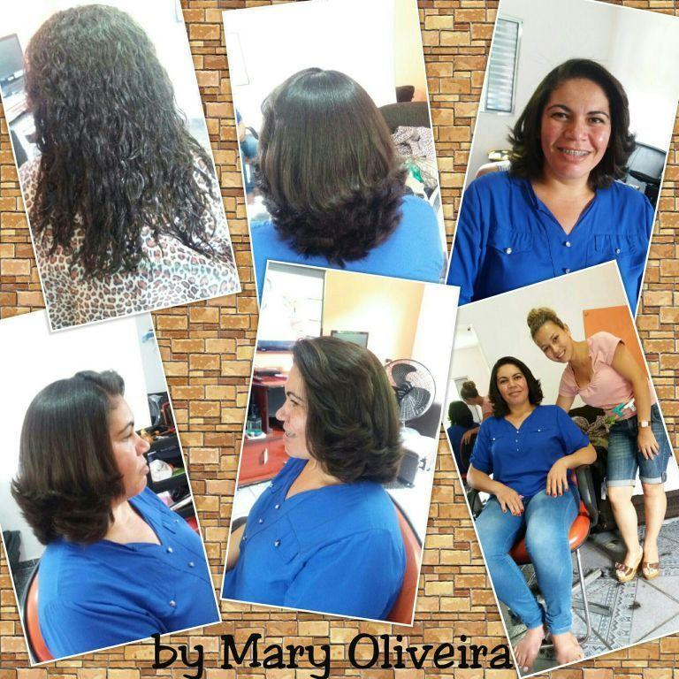 Progressiva e corte. cabelo cabeleireiro(a)