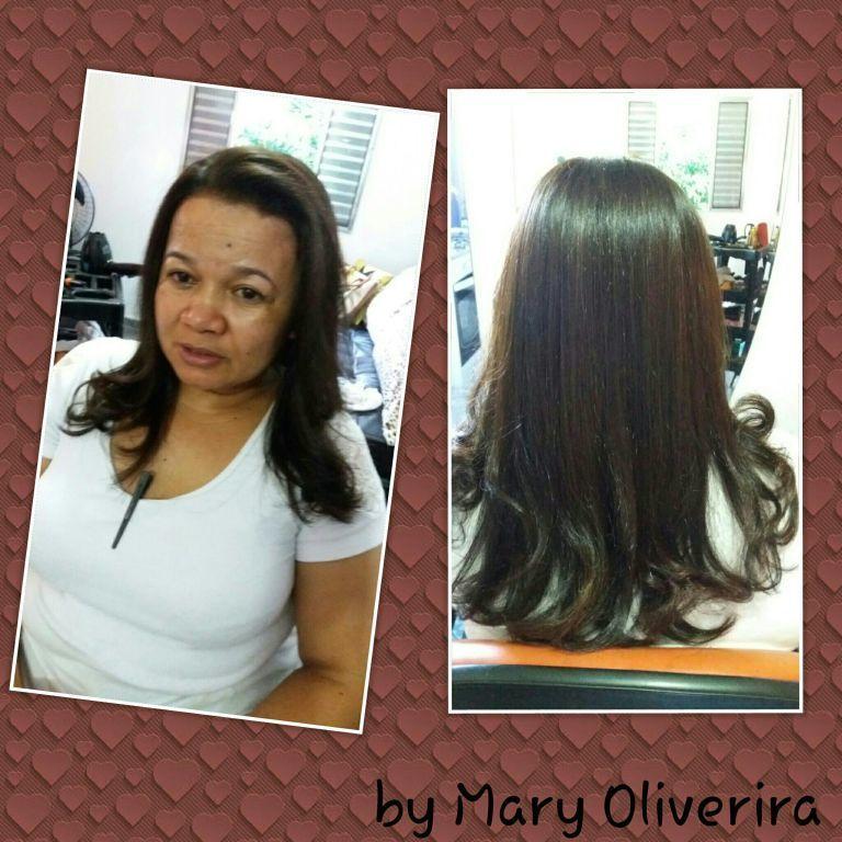Coloração e escova. cabelo cabeleireiro(a)