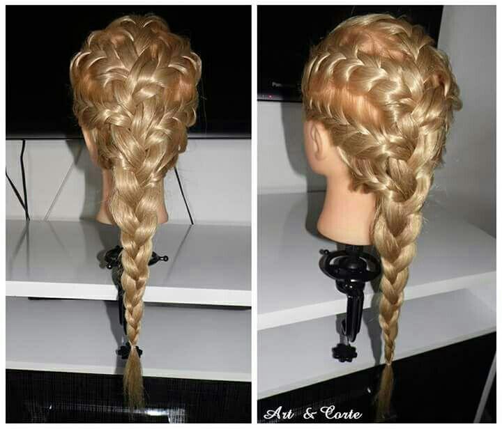 Trança embutida cabelo estudante (cabeleireiro)