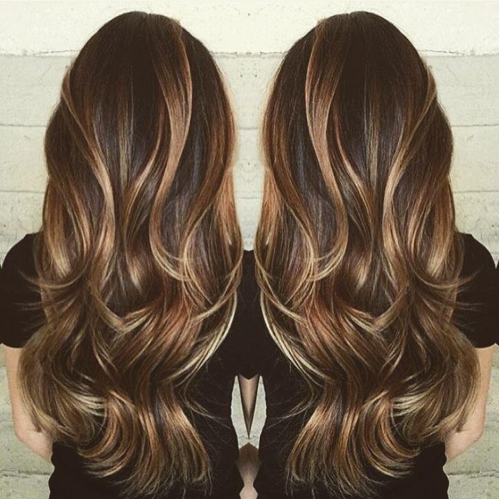 Balaiage canela & mel.Com pontos de luz perola cabelo  cabeleireiro(a)