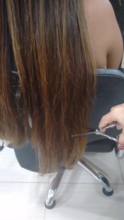 Corte das pontas antes da ombré! empresário(a) / dono de negócio cabeleireiro(a) designer de sobrancelhas maquiador(a) micropigmentador(a) visagista