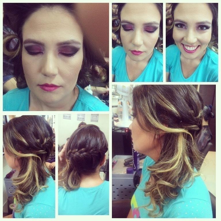 Make total Pink com tranca lateral imbutida. cabelo cabeleireiro(a) maquiador(a)