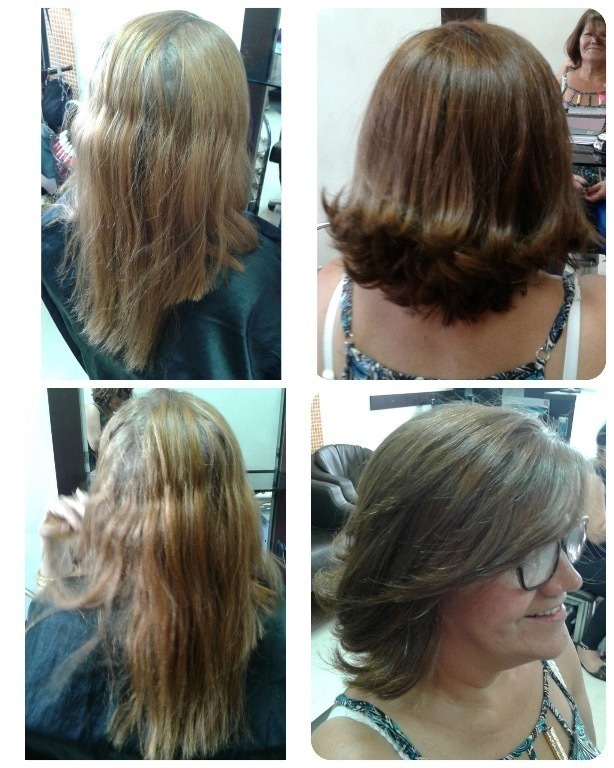 Correção de cor e corte. cabelo cabeleireiro(a) maquiador(a)