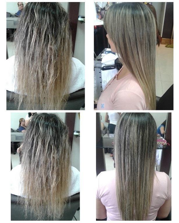 Escova progressiva para loiras. Sem amarelarento  dos fios cabelo cabeleireiro(a) maquiador(a)