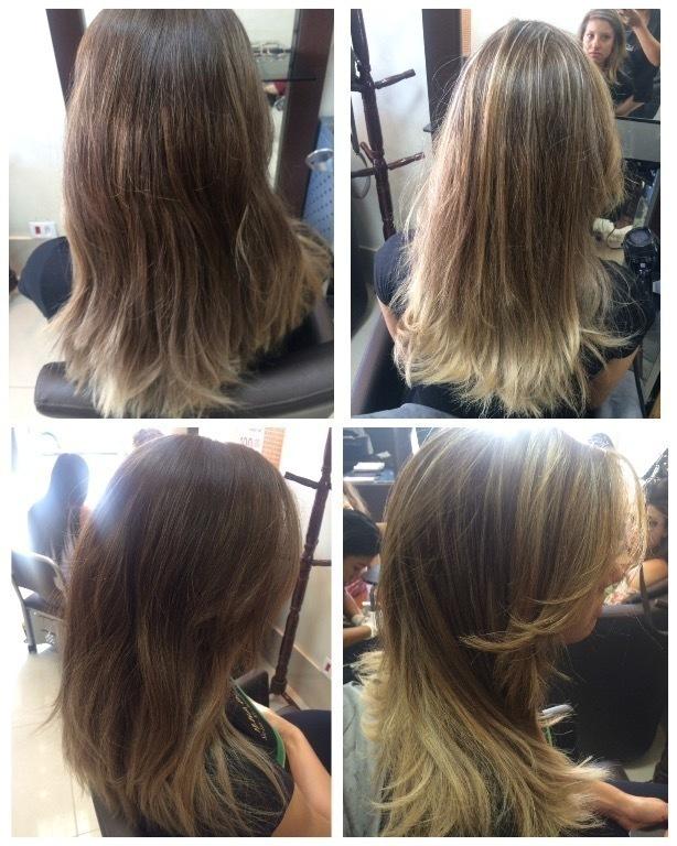 Luzes no tom bege com pontos de mais clareamento.  cabelo cabeleireiro(a) maquiador(a)