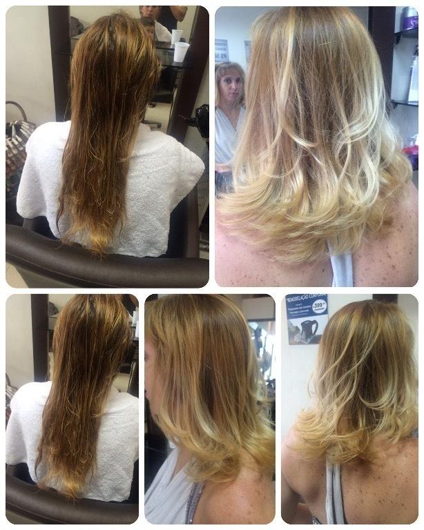 Corte e correção de cor. cabelo cabeleireiro(a) maquiador(a)