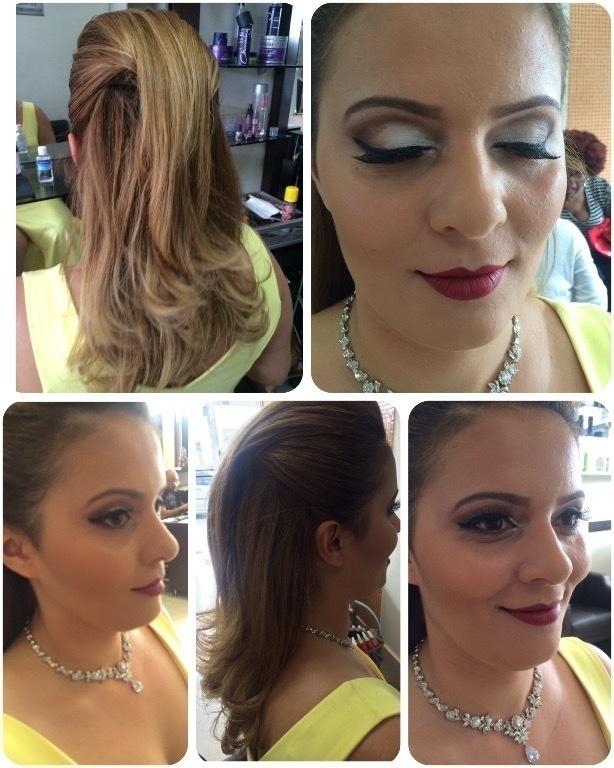 Make e penteado para madrinha. Make com esfumado marcado e penteado com volume central  cabelo cabeleireiro(a) maquiador(a)