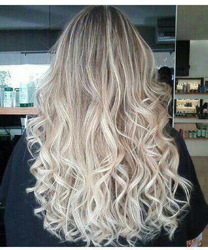 Mechas ombre hair  platinado. cabelo cabeleireiro(a) maquiador(a)