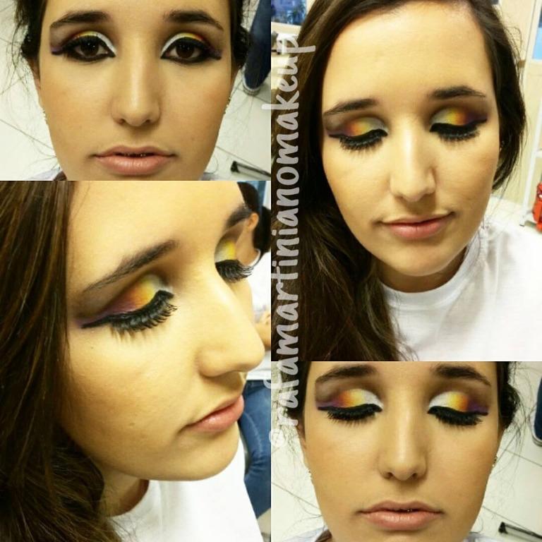 Maquiagem Cut Crease em degradê #makeartística #degradêdecores maquiador(a)