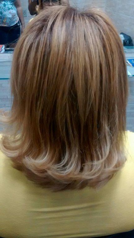 Depois da hidratação e corte cabelo cabeleireiro(a)