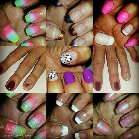 Várias técnicas... unha manicure e pedicure