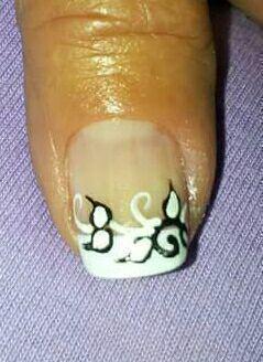 Francesinha decorada... unha manicure e pedicure